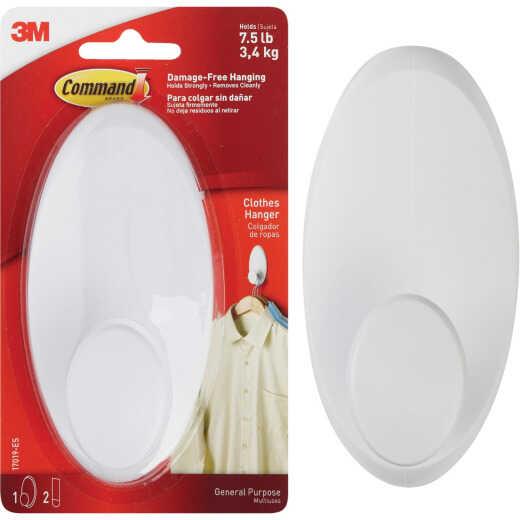 3M Command White Adhesive Hanger Wardrobe Hook