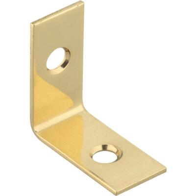 National Catalog V1875 1 In. x 1/2 In. Solid Brass Corner Brace