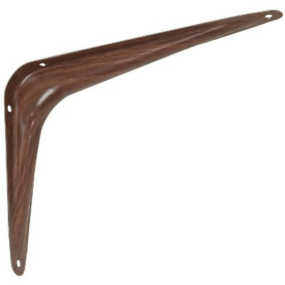 National 211 6 In. D. x 8 In. H. Fruitwood Steel Shelf Bracket