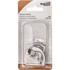 National Satin Nickel Single Clothes Wardrobe Hook, 2 per Card Image 2
