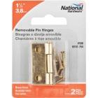 National 1-1/2 In. Brass Loose-Pin Narrow Hinge (2-Pack) Image 2