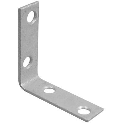 National Catalog V115 2 In. x 5/8 In. Galvanized Steel Corner Brace (4-Count)