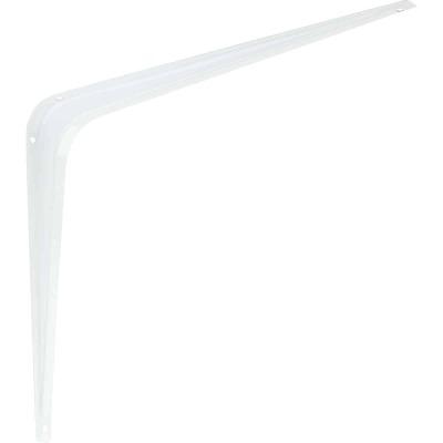 National 211 10 In. D. x 12 In. H. White Steel Shelf Bracket