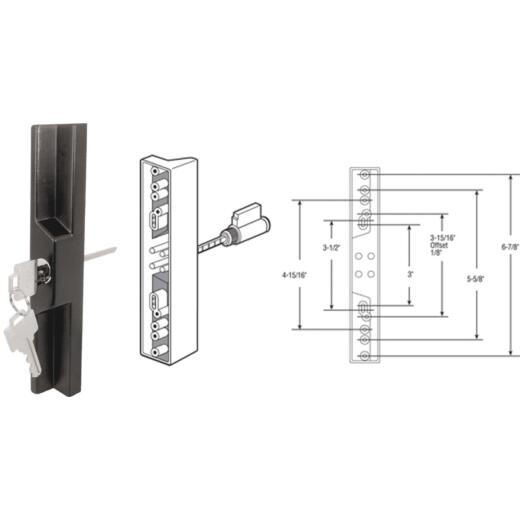 Prime-Line Sliding Patio Door Pull & Keyed Locking Unit