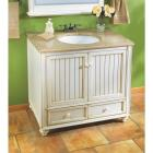Sunny Wood Bristol Beach White 36 In. W x 34 In. H x 21 In. D Vanity Base, 2 Door/2 Drawer Image 3