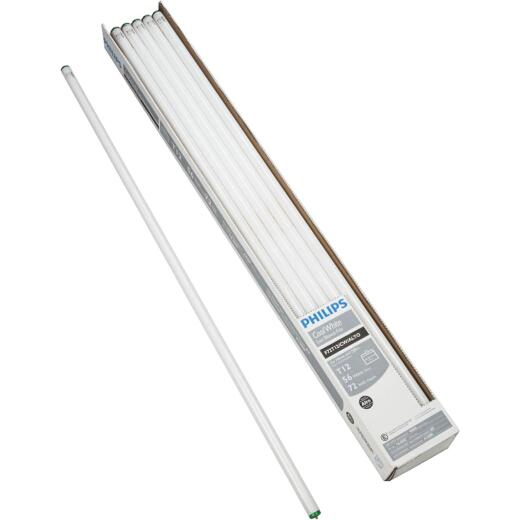 Philips 56W 72 In. Cool White T12 Single Pin Fluorescent Tube Light Bulb (15-Pack)
