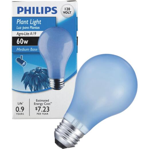 Philips 60W Agro Medium A19 Incandescent Plant Light Bulb