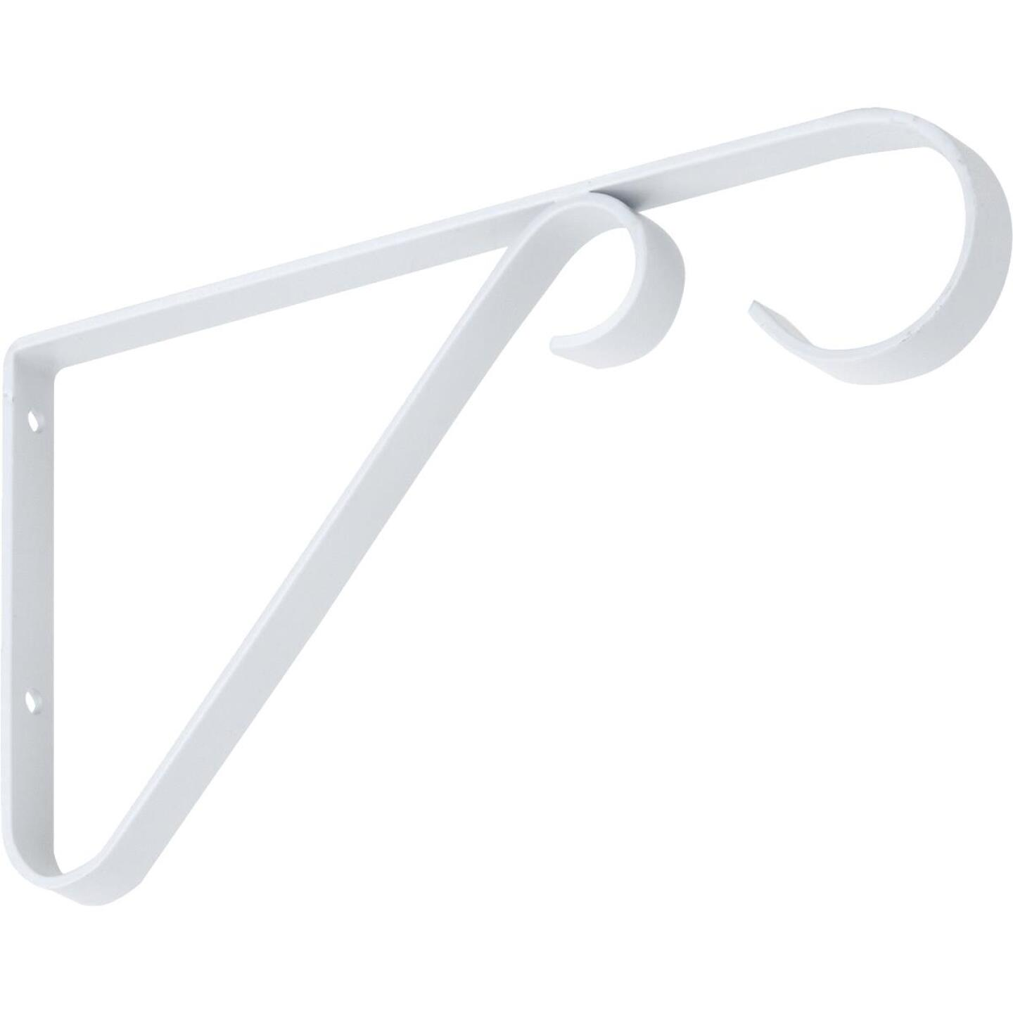 National 6 In. White Steel Hanging Plant Bracket Image 1