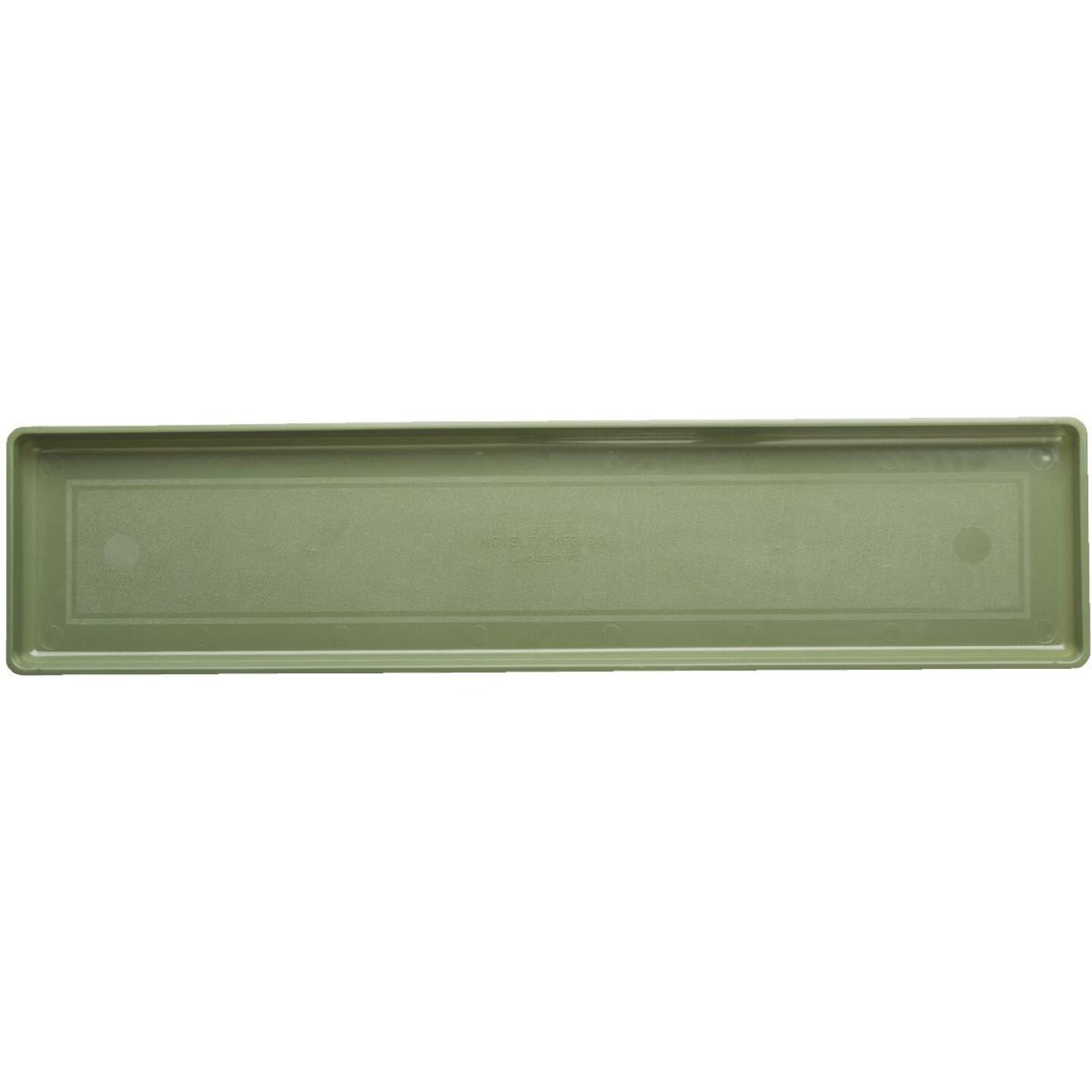 Novelty 26-3/8 In. Sage Plastic Flower Box Tray Image 1