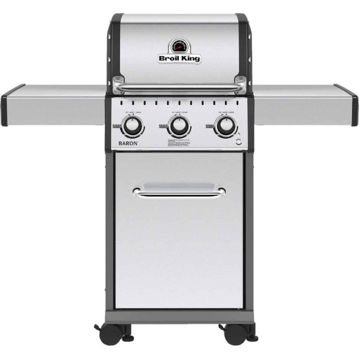 Broil King Baron S320 3-Burner Stainless Steel 30,000-BTU LP Gas Grill