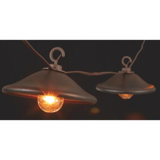 Gerson 10 Ft. 10-Light Clear Bronze Cover String Lights