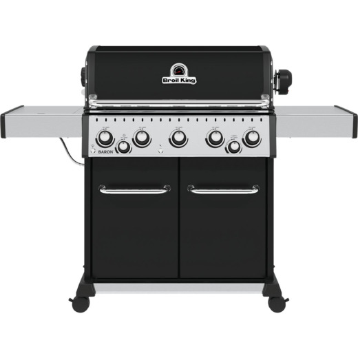 Broil King Baron 590 Pro 5-Burner Black 45,000 BTU LP Gas Grill