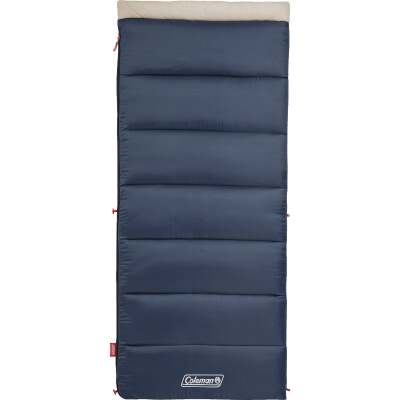 Coleman 30 Degree 33 In. W. x 75 In. L. Blue Adult Sleeping Bag