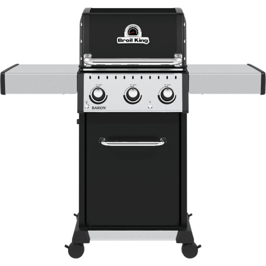 Broil King Baron 320 Pro 3-Burner Black 32,000 BTU LP Gas Grill